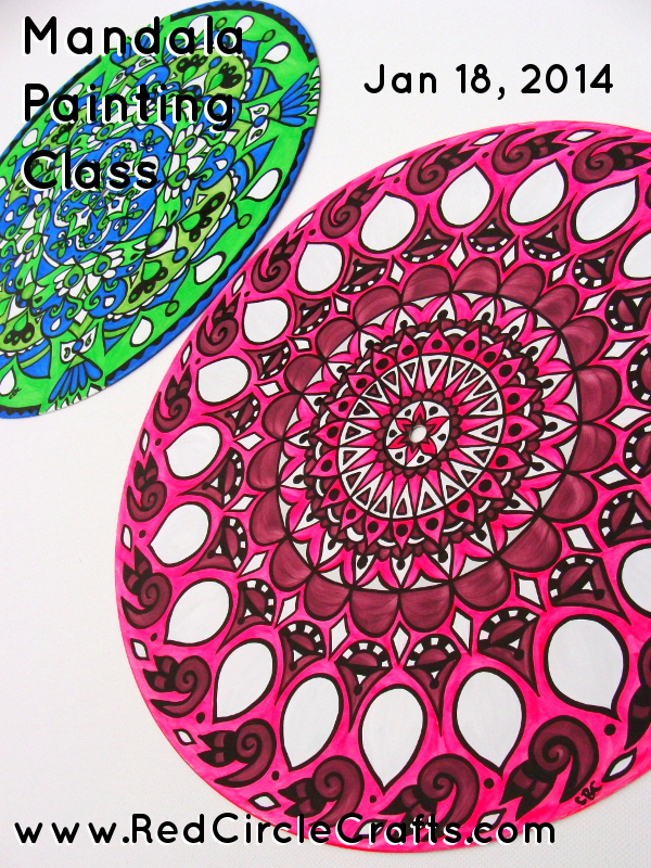Mandala Painting Class | Red Circle Crafts