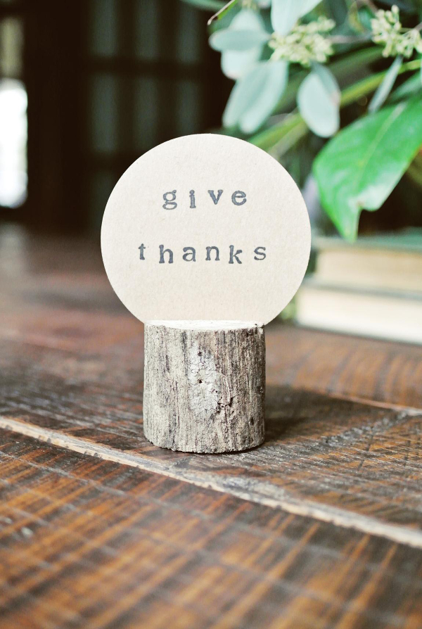 Give Thanks | Log Place Holder Tutorial from Farm Fresh Therapy