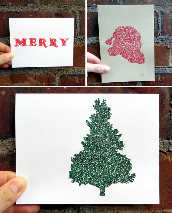 Glitter Holiday Card Tutorial | Red Circle Crafts