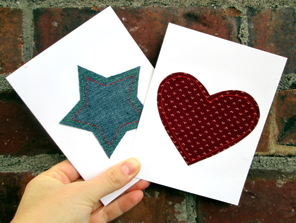 Heart & Star Holiday Cards | Red Circle Crafts