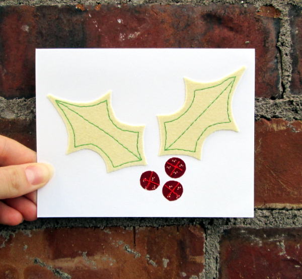 Holly Holiday Card | Red Circle Crafts