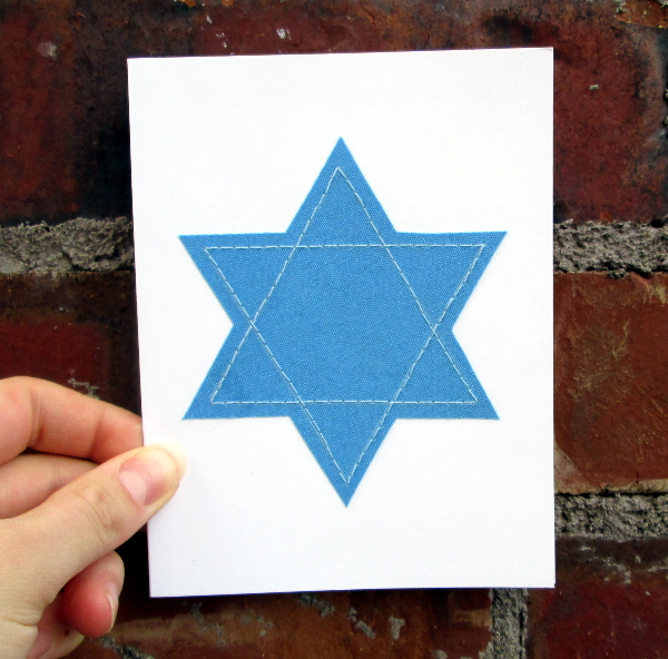 Star of David Holiday Card | Red Circle Crafts