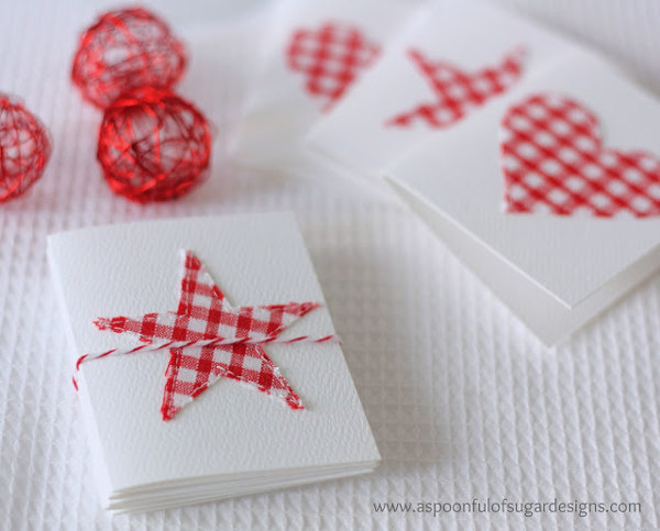 Stitched Gift Cards from A Spoonful of Sugar Designs