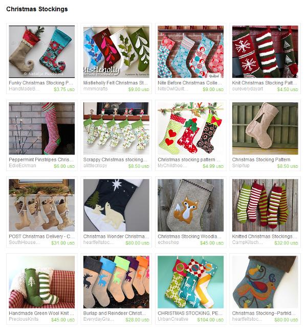 An Etsy Treasury of Christmas Stockings