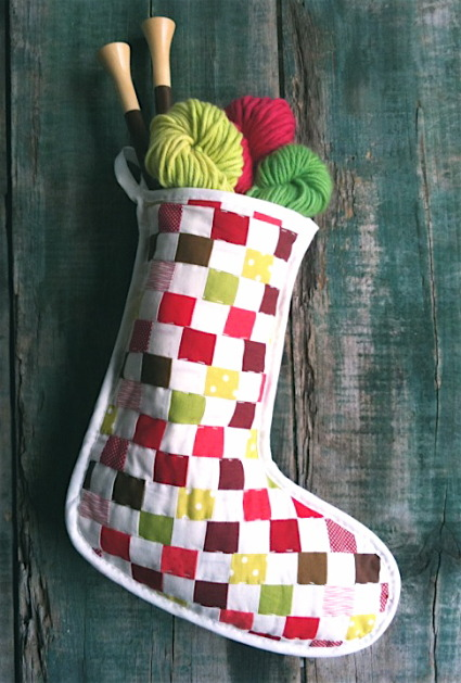 Quilted Stocking from The Purl Bee