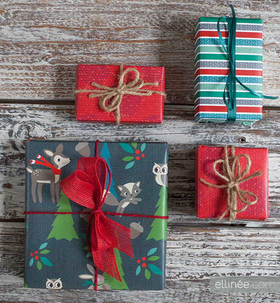 Printable Gift Wrap from the Elli Blog