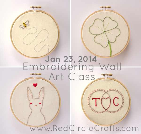 Embroidering Wall Art Class with Cate Anevski