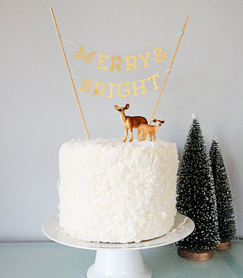 DIY Christmas Cake Topper from Sweet Tooth
