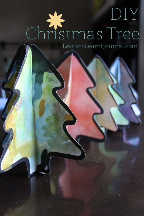 Kid Crafted Christmas Trees from Lessons Learnt Journal