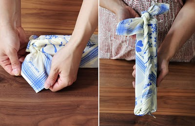 Fabric Gift Wrap from Chewing the Cud