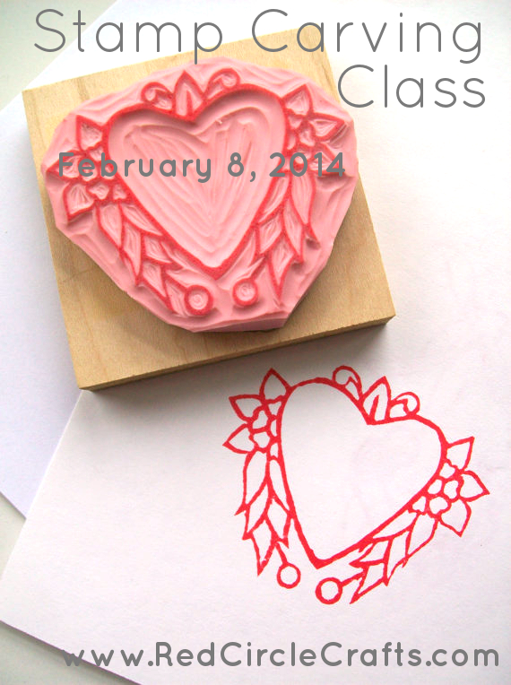 Stamp Carving Class February 8th