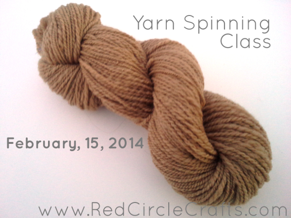 Drop Spinning Yarn Class February 15th | Red Circle Crafts