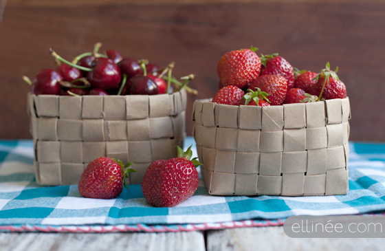 Paper Bag Berry Baskets from Ellinee