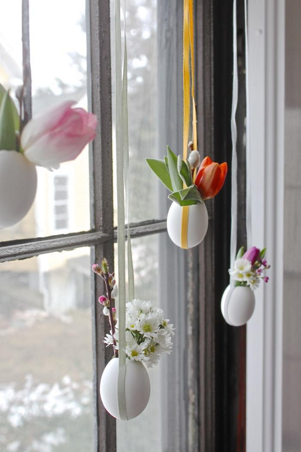 Hanging Easter Posies by Justine Hand