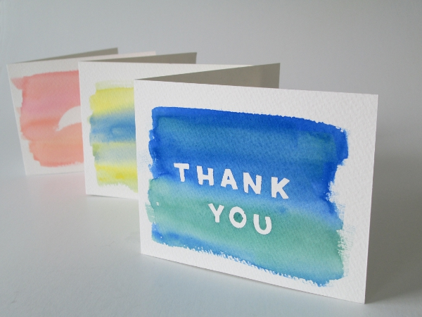 Watercolor Notecards | Red Circle Crafts