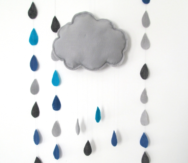 Rain Cloud Mobile Tutorial | Red Circle Crafts