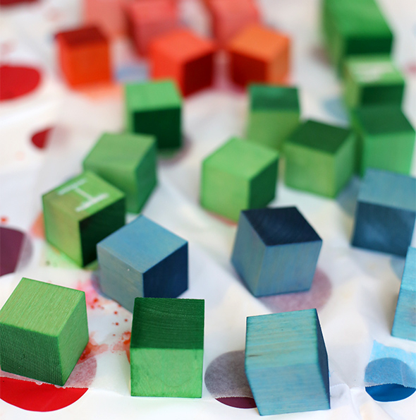 Dyed Wooden Blocks from Say Yes