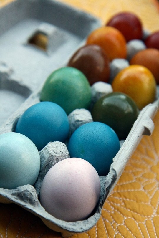 Naturally Dye Eggs from The Kitchn