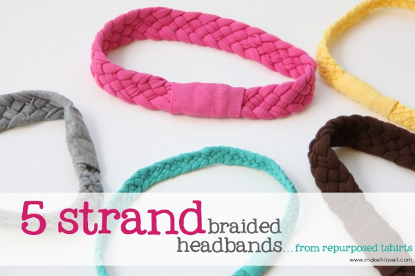 5 Stranded Braided Headbands from Make It & Love It