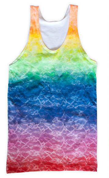 Rainbow Lace Tank from P.S. I Made This