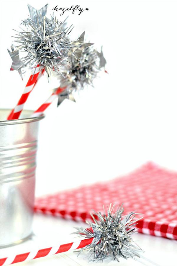 Straw Sparklers from Hazelfly