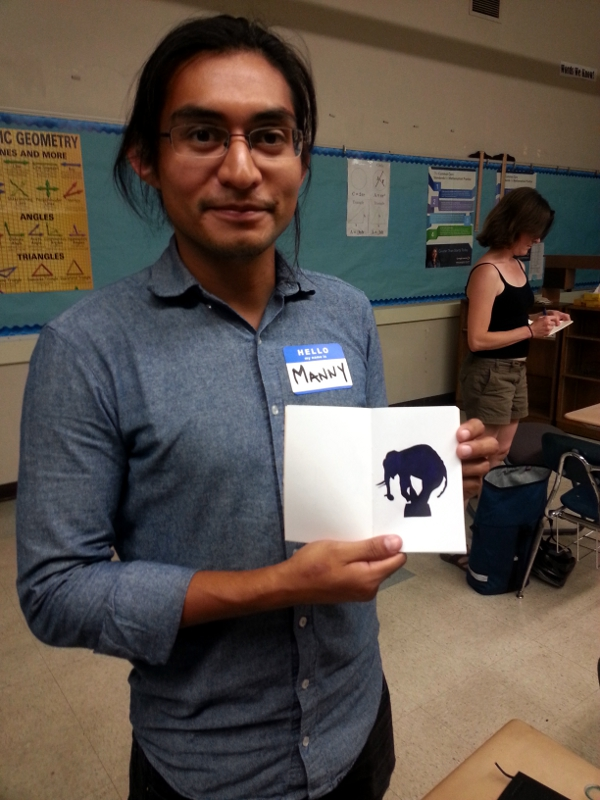 Manny w/ his Circus Elephant Printed Notebook