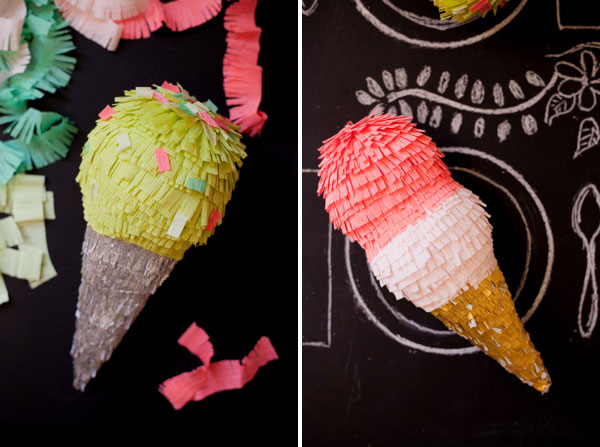 Ice Cream Pinata DIY from Oh Happy Day