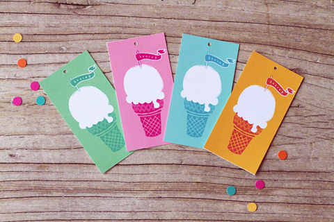 Ice Cream Gift Tags from Eat Drink Chic