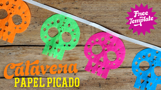 Papel Picado Calaveras Tutorial from Happy Thought