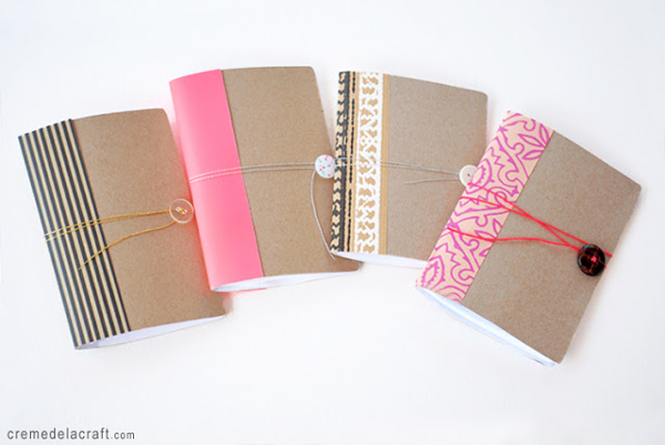 DIY Mini Pocket Notebook Journal From A Cereal Box from Creme De La Craft