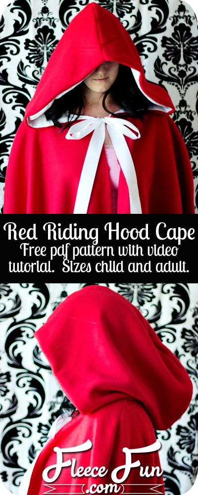 Free Red Riding Hood Cape Pattern from Fleece Fun