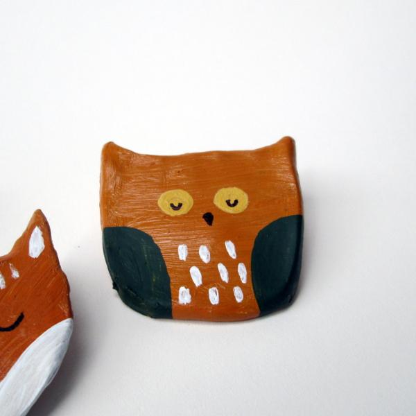 Woodland Clay Pins | Red Circle Crafts