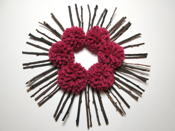 Twig and Pom Pom Fall Wreath | Red Circle Crafts