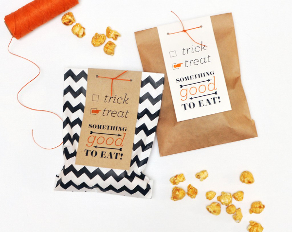 Halloween Goodie Bag DIY from Smitten On Paper