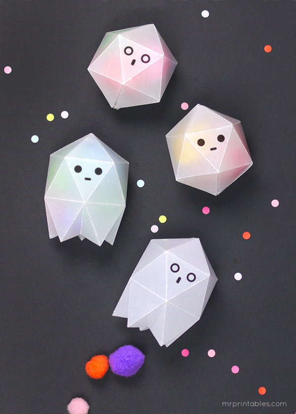 Ghost Favor Boxes from Mr. Printables
