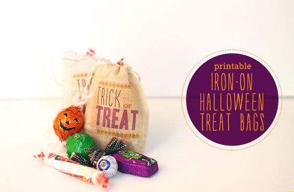 Iron-On Halloween Treat Bags from Used Blog
