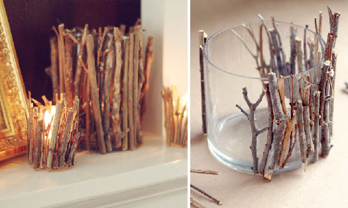 DIY Twig Candle Holders