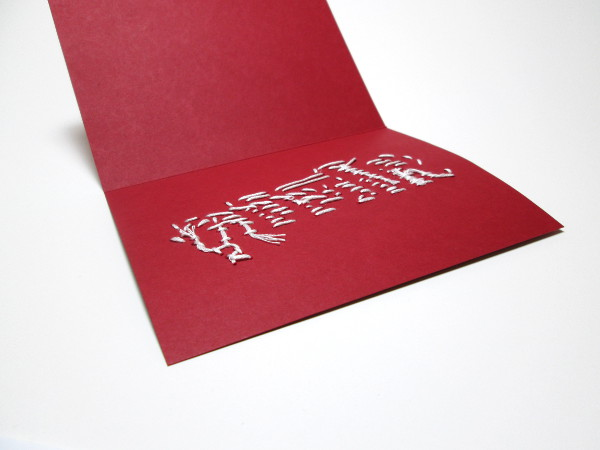 Embroidered Christmas Card | Red Circle Crafts