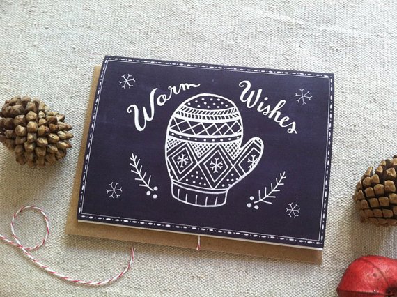 Warm Wishes Holiday Card from Ello Lovey