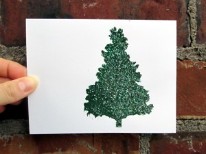 Glittery Holiday Card Tutorial