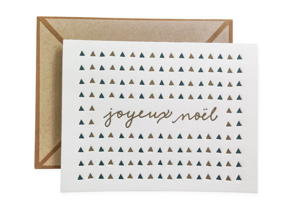 Joyeux Noel Christmas Card from Ink Meets Paper