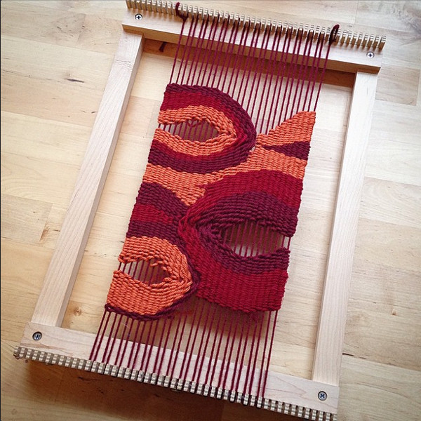 WIP Weaving by agateandelm on Instagram
