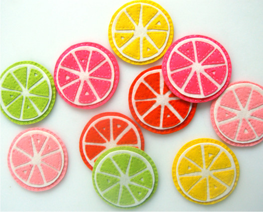 Citrus Coasters from Purl Bee