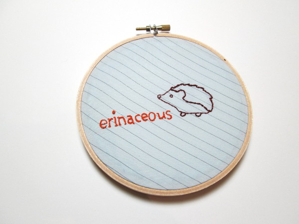 "Word Art: ""erinaceous"" 