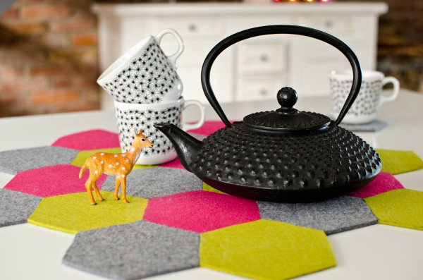Hexagon Coasters from Leelah Loves