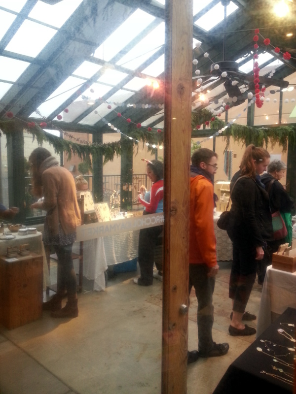 Shoppers at Red Circle Crafts' Holiday Market 2014