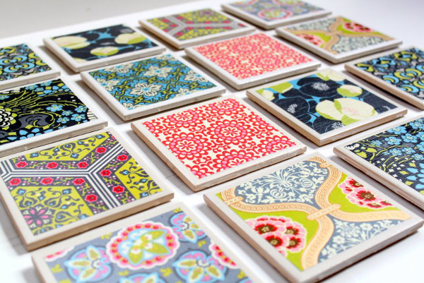 Tile Coasters from Cottage Mama