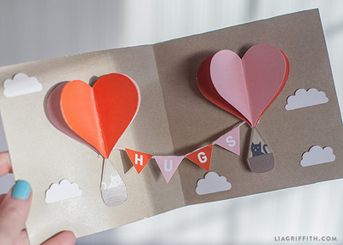 Printable Pop Up Valentine Card from Lia Griffith