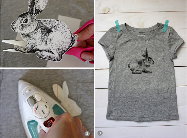DIY Iron-on Bunny T-shirt from Alice & Lois