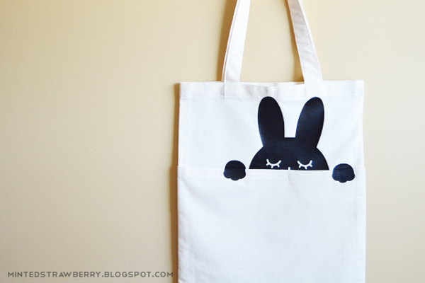 Peek-A-Boo Bunny Bag from Minted Strawberry